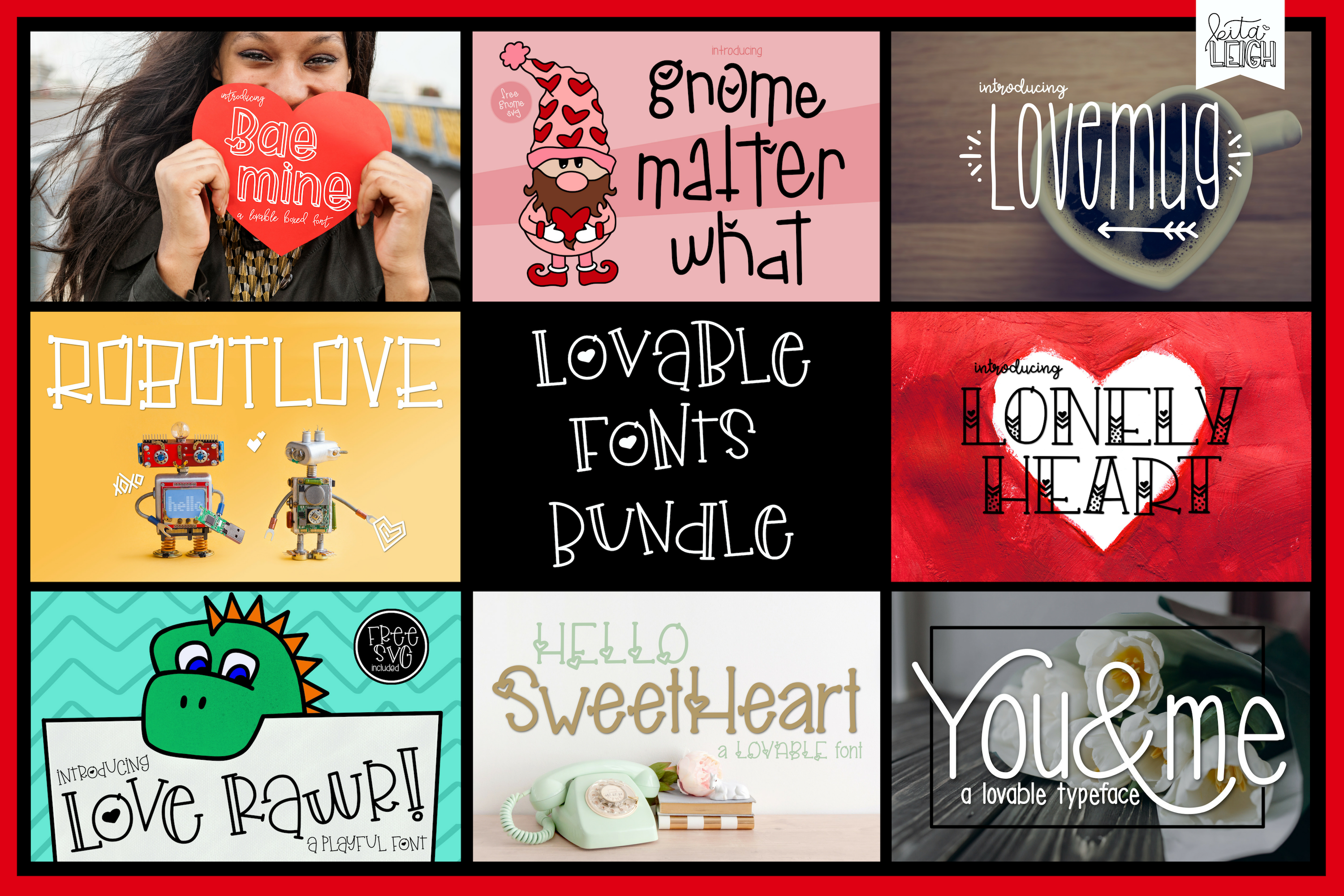 Kitaleigh Lovable Fonts Bundle $96 Value! example image 1