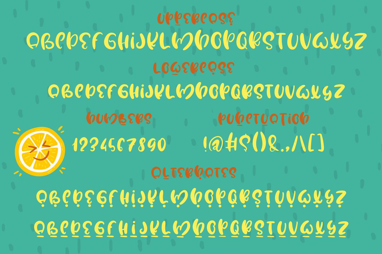 Water Lemon cute font example image 4