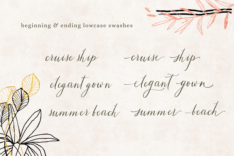 Tiara / modern calligraphy script example image 7