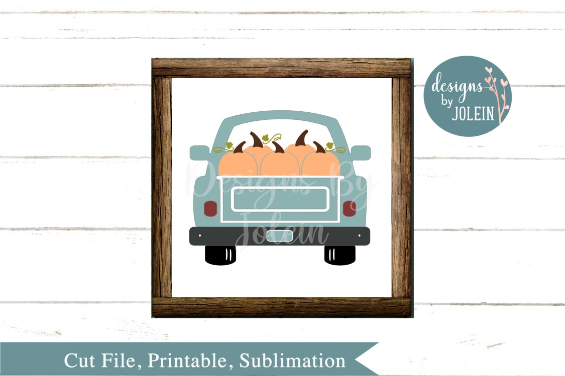 Fall Truck SVG, png, eps, sublimation, DXF example image 3