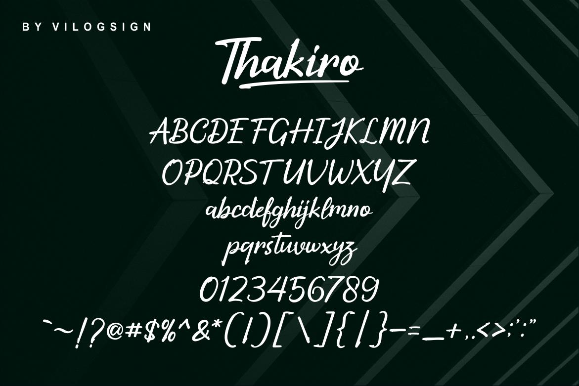 Thakiro // Modern Script Font example image 4