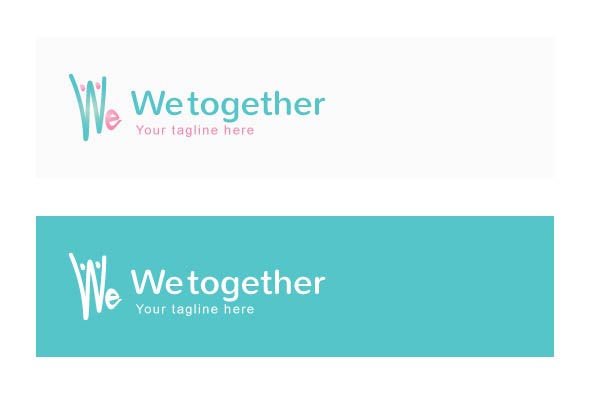 We Together Stock Logo Template example image 2