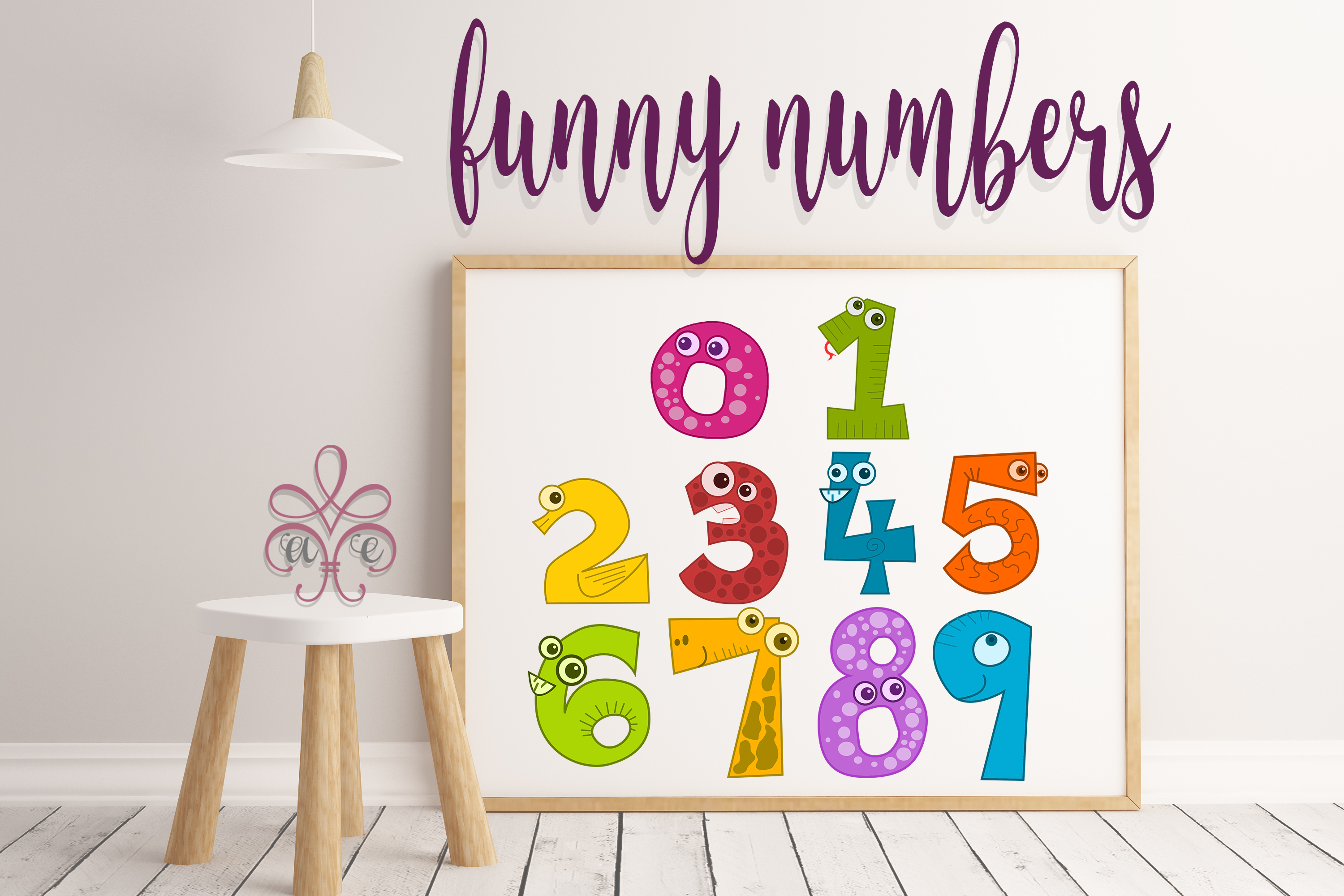Funny Numbers SVG Bundle example image 1