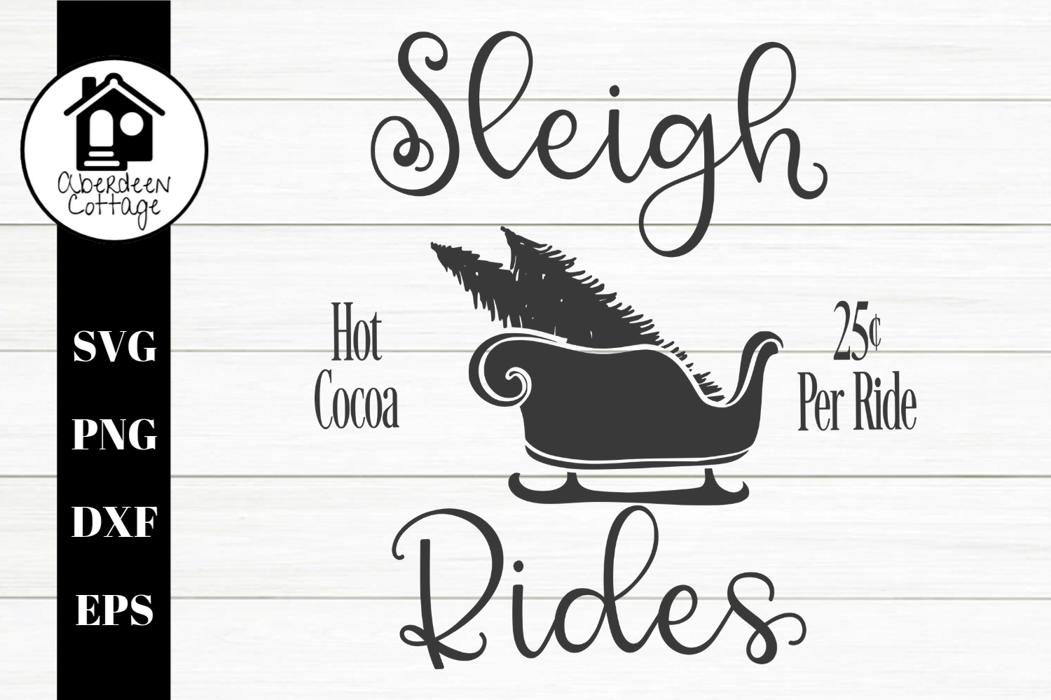 Sleigh Rides 2 SVG| PNG | EPS | DXF example image 1