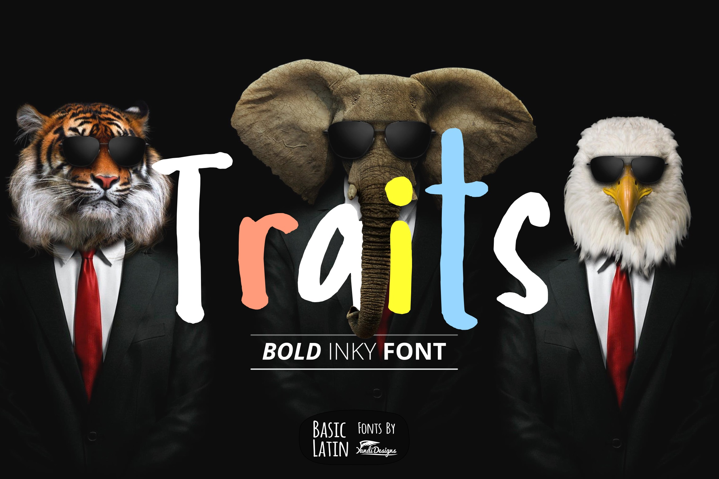 Traits Inky Font example image 1