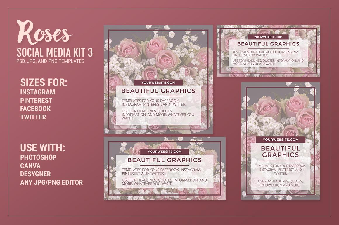Roses Social Media Kit Bundle example image 5