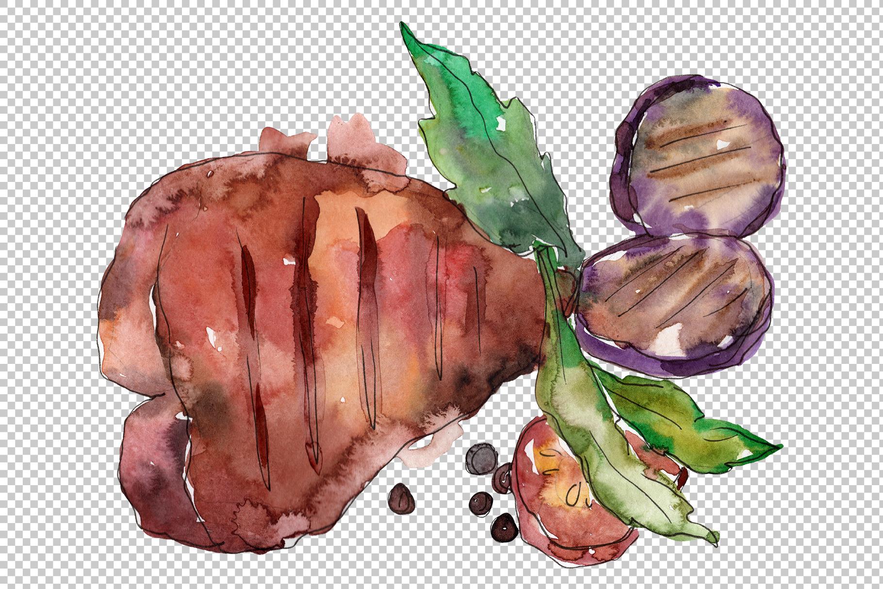 Steak Watercolor png example image 8
