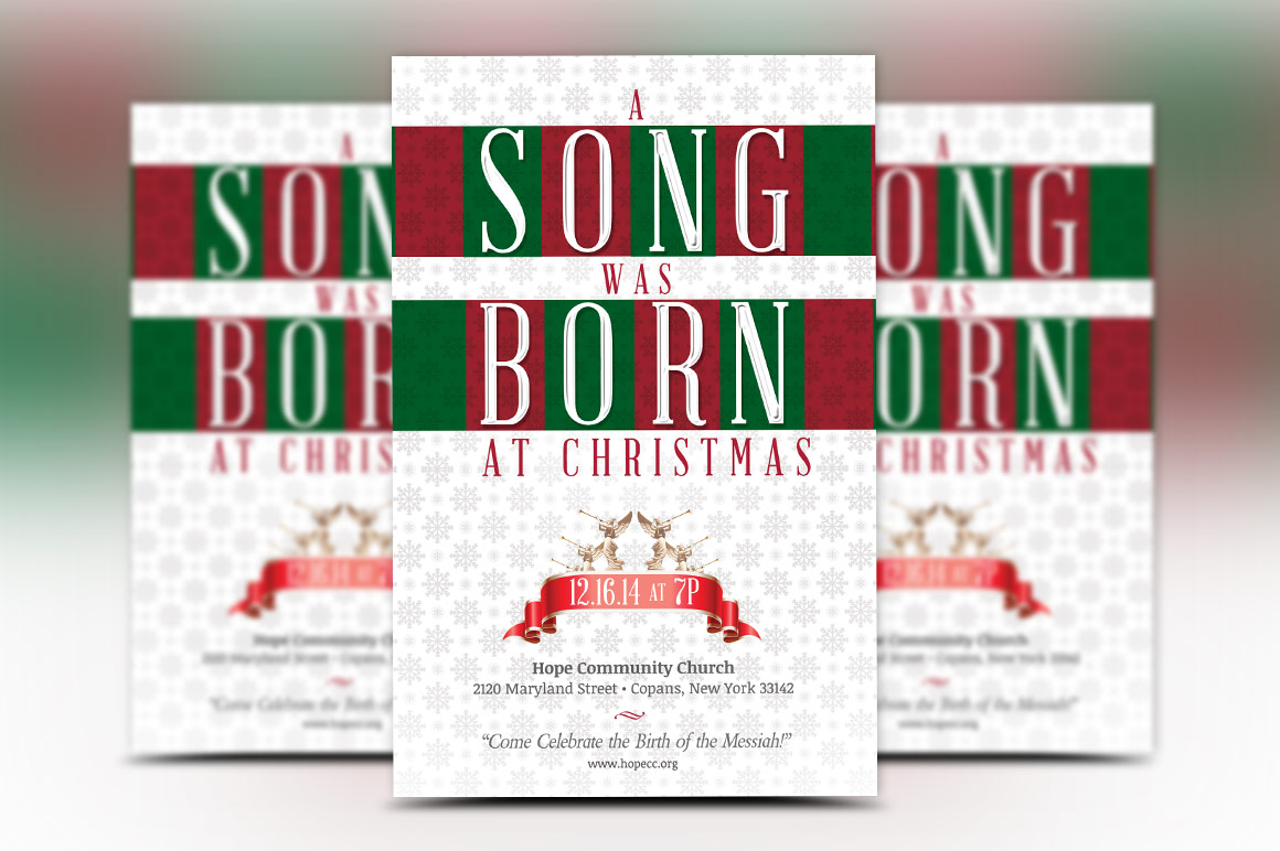 Christmas Musical Flyer Template example image 2