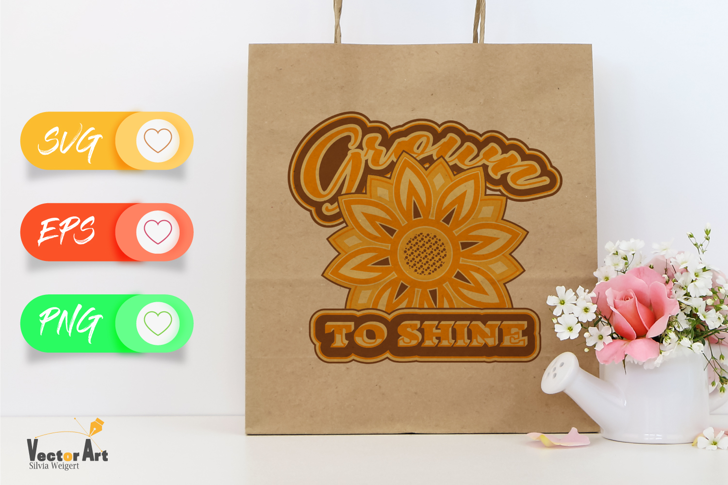 Sunflower - Grown to Shine - Cutting or Sublimation example image 3