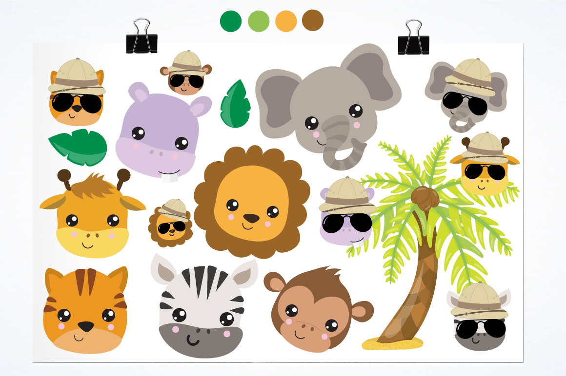 Safari Friends graphics and illustrations example image 2
