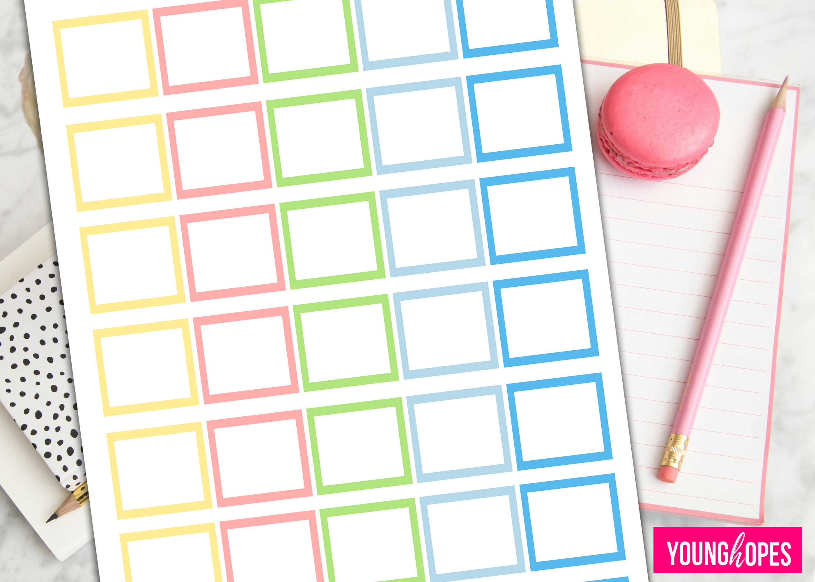 Spring Half Box Planner Stickers-Blank Planner Stickers example image 2
