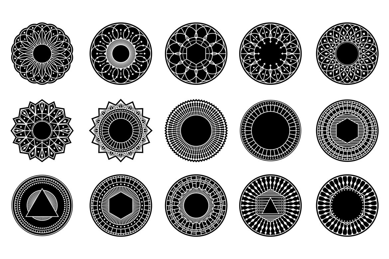 100 Geometric Costum Shapes - CSH example image 9