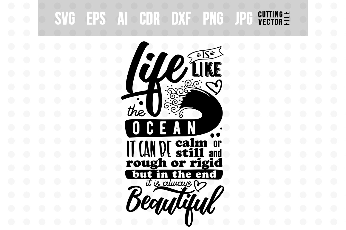 Life is like the Ocean - Inspirational Quote example image 6