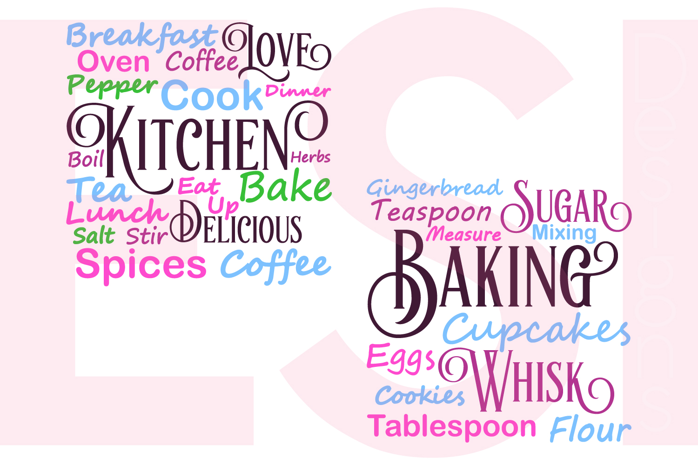 Kitchen and Baking Subway Art Set example image 1