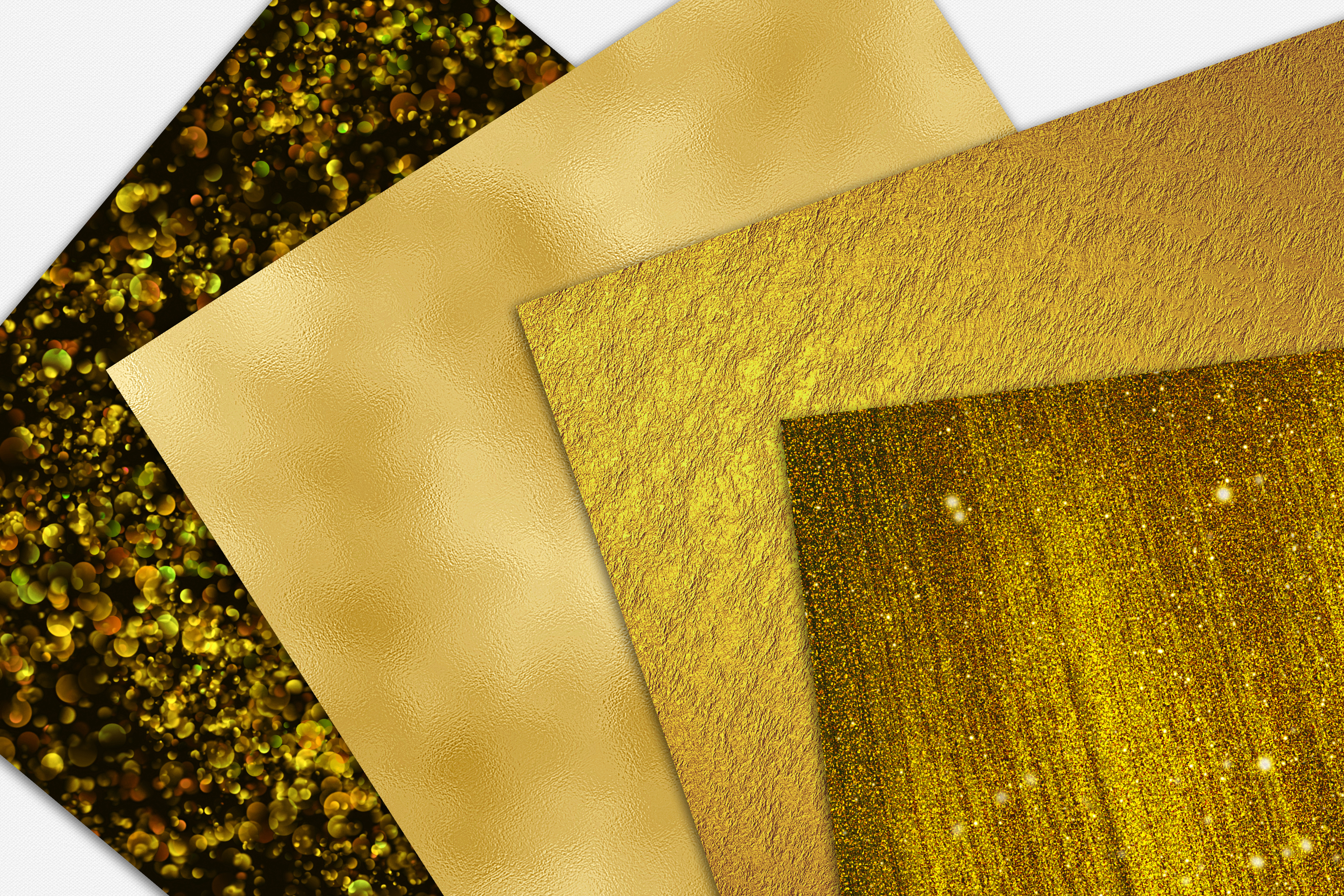 Gold Foil and Glitter Textures - Metallic Digital Papers example image 3