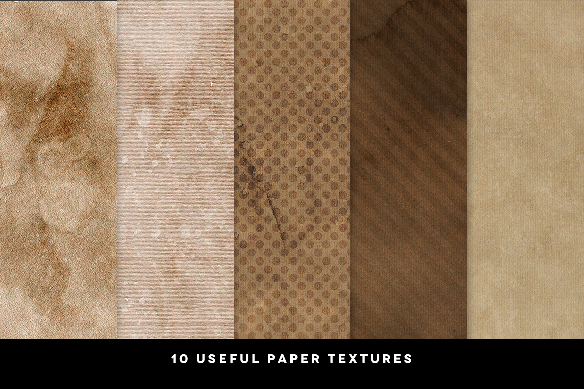 10 Coffee Paper Textures example image 3