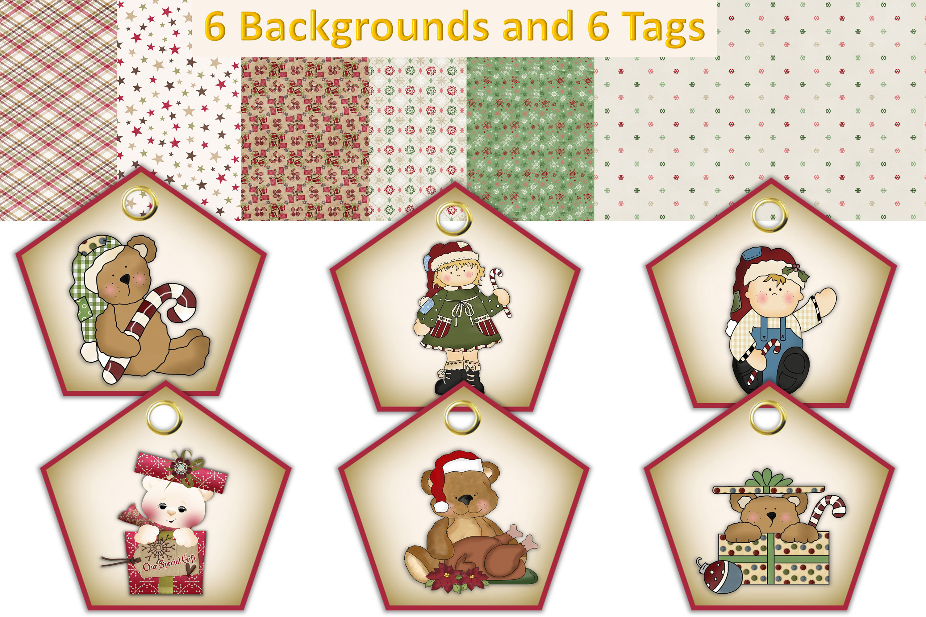 Christmas Crafts Bundle JPEG and PNG Commercial Use example image 2