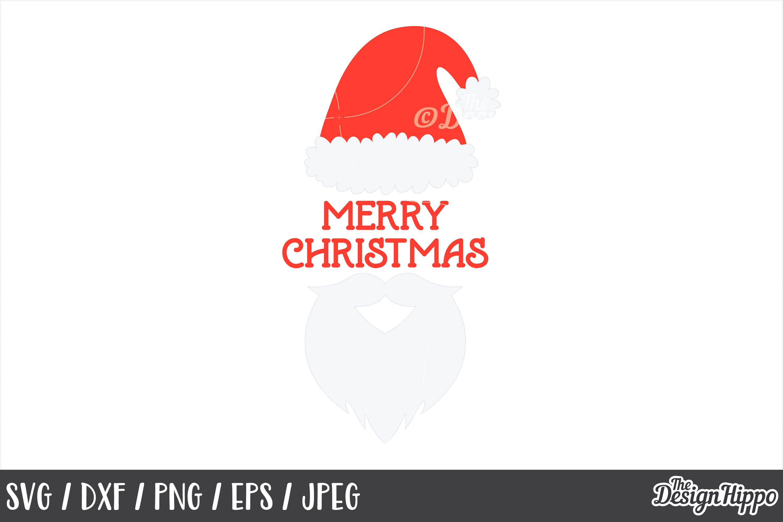 Christmas Santa, Merry Christmas SVG, PNG, DXF, Cut Files example image 1