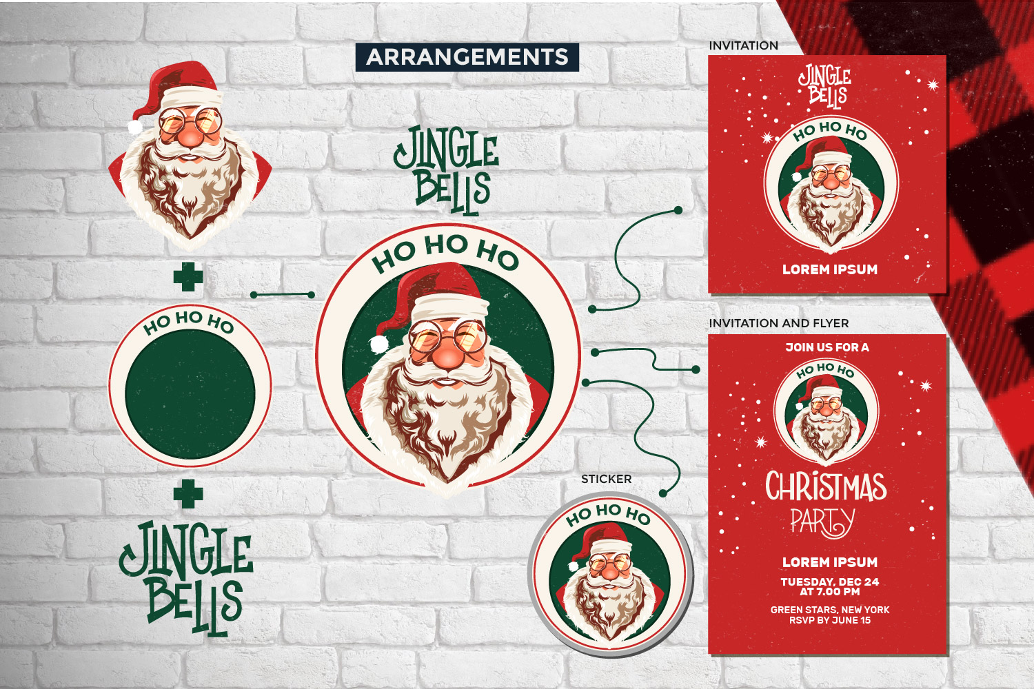 Santa Claus Face Collection Illustrations example image 4