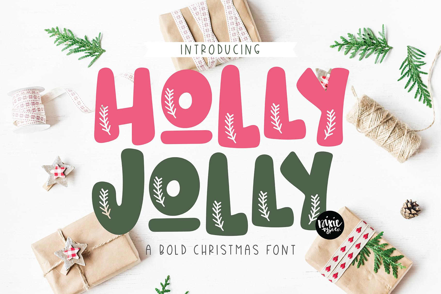 CHRISTMAS FONT BUNDLE - 4 Hand Lettered Christmas Fonts example image 6