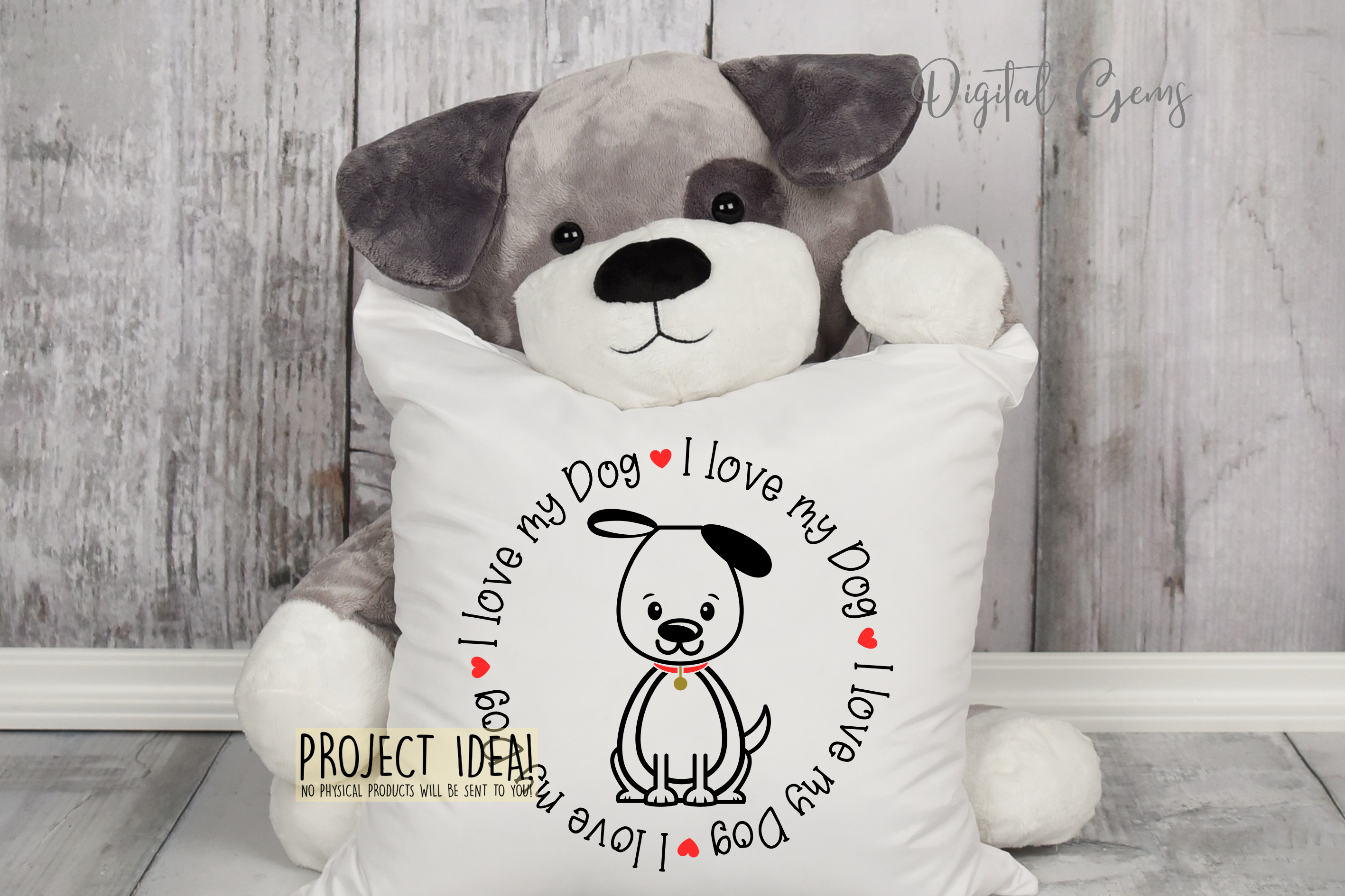 I love my Dog SVG / EPS / DXF / PNG Files example image 3