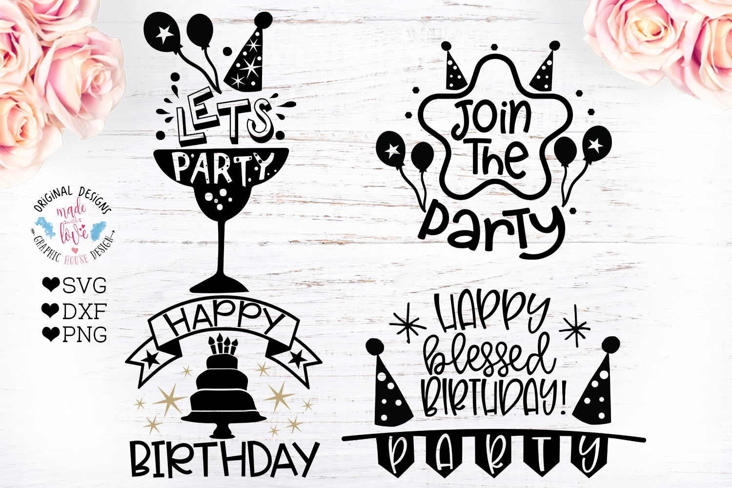 8 Birthday Party Quotes - Birthday Cut Files Bundle example image 3