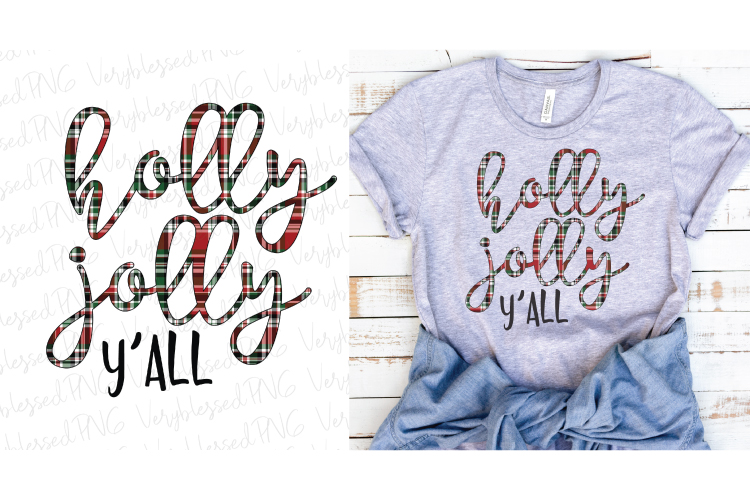 Holly Jolly Sublimation Png example image 1
