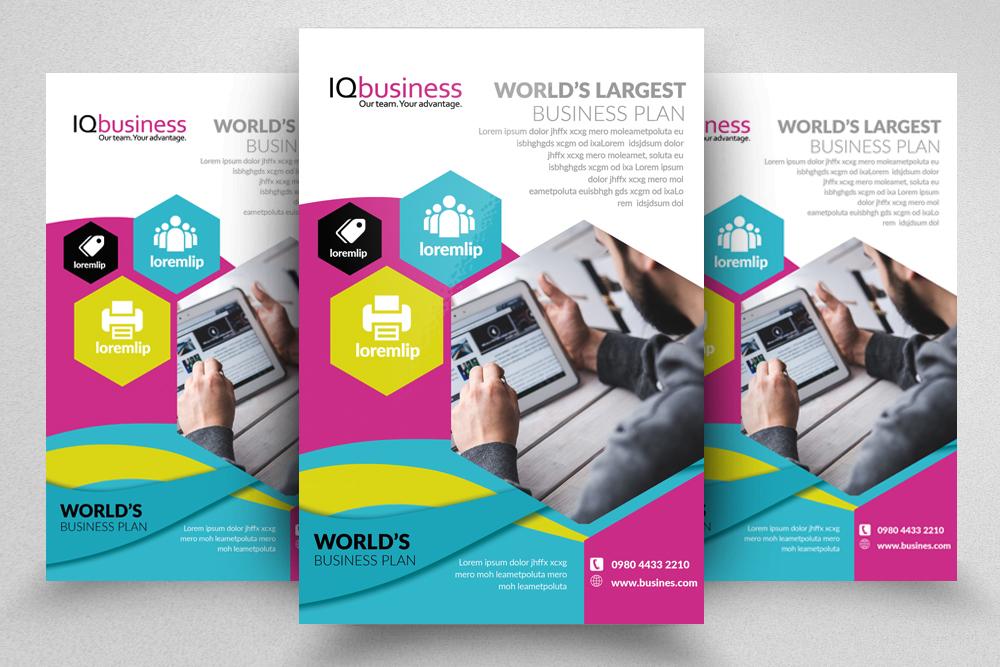 10 Multi use Business Corporate Flyer Bundle 10 example image 2