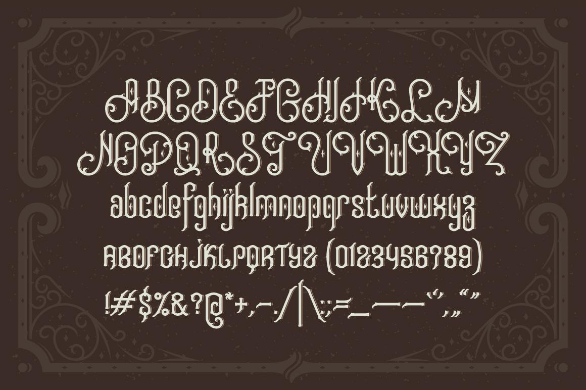 Tobacco Box Font, Mockups, Template! example image 2