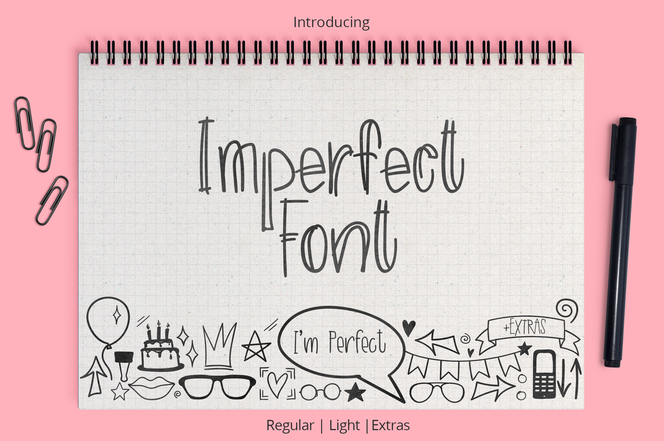 Imperfect font example image 1