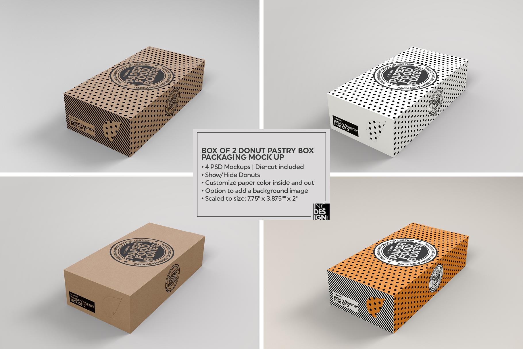 VOL.11 Food Box Packaging MockUps example image 16