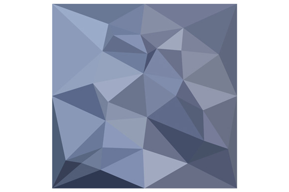 Black Coral Blue Abstract Low Polygon Background example image 1