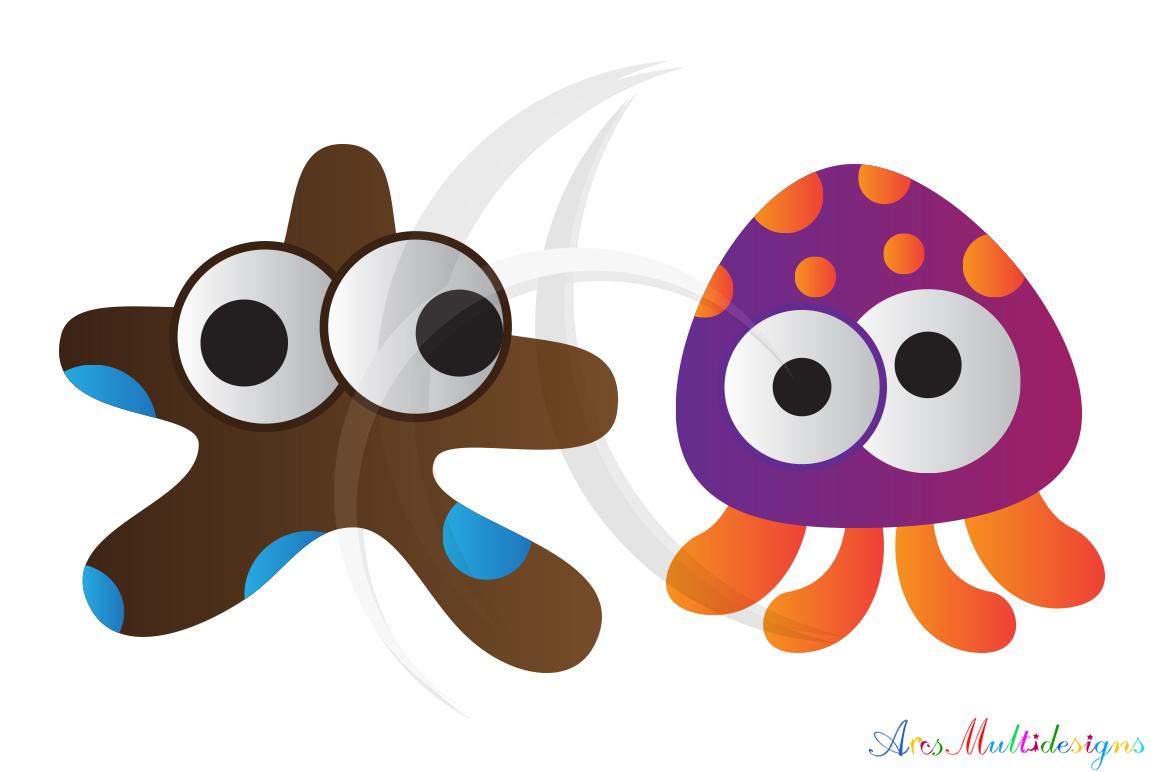 sea animal svg /sea animals clip art SVG /sea animal vector/ hand drawn doodle sea creatures / Eps / Png / printable example image 2