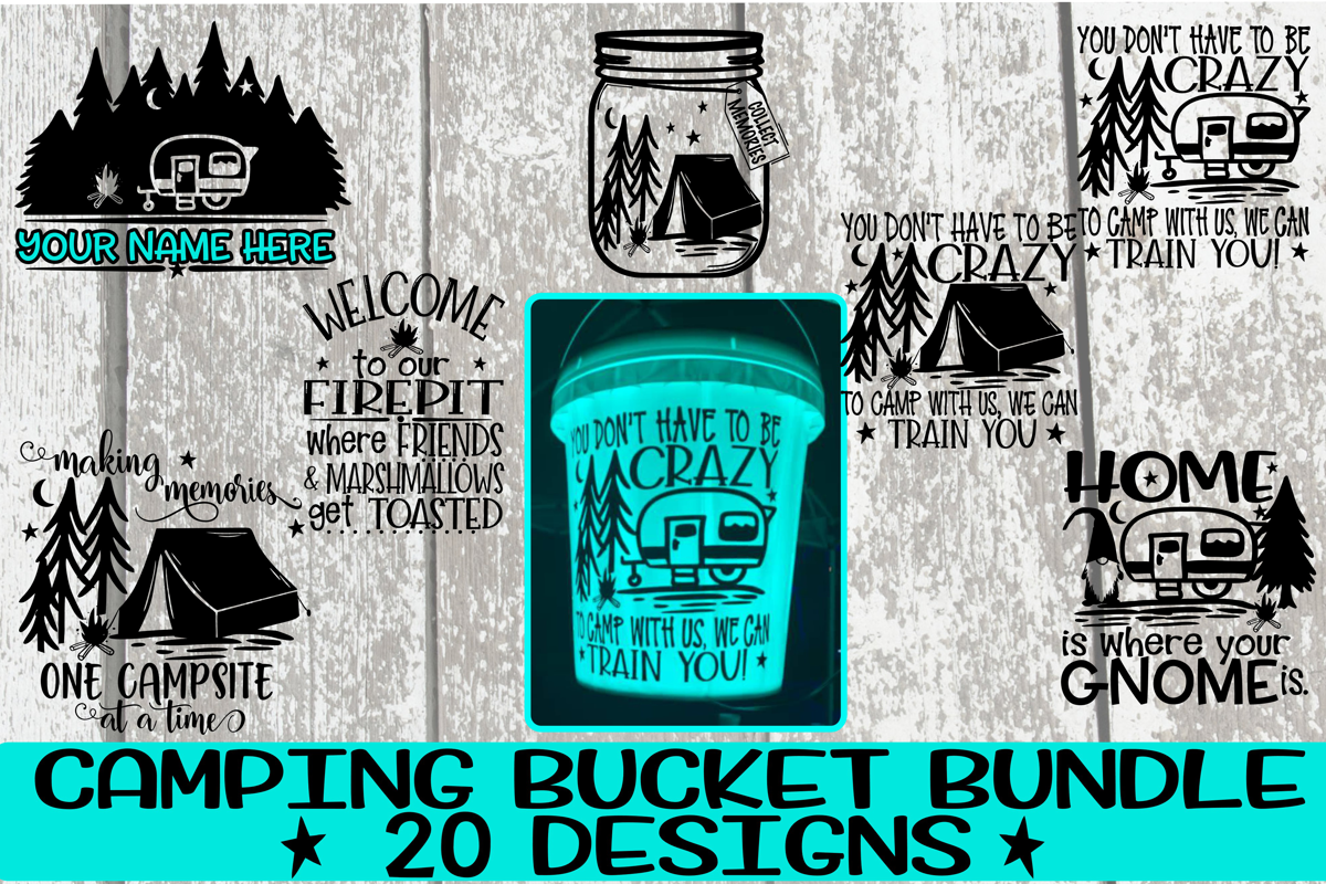 Camping Bucket Bundle - Best Sellers - 20 Designs - Vol 2 example image 2