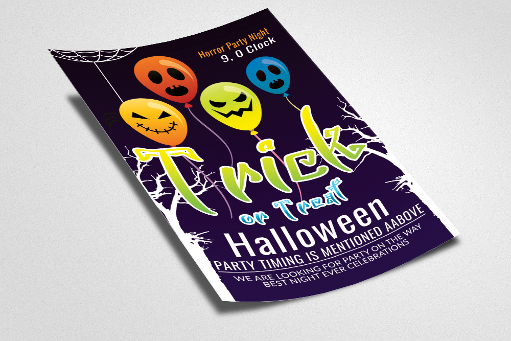 Halloween Flyer / Poster Template example image 2