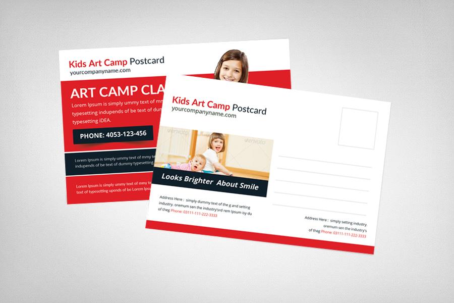 Kids Art Camp Postcard Template example image 2