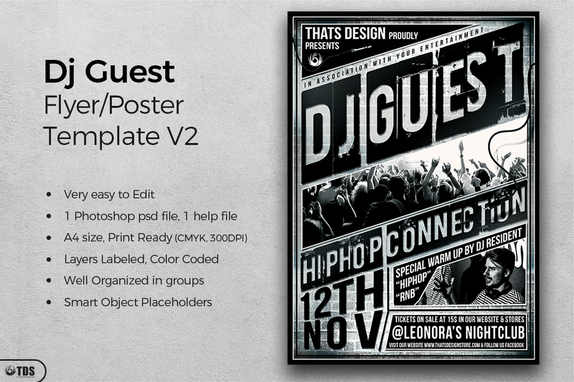 DJ Guest Flyer Template V2 example image 2