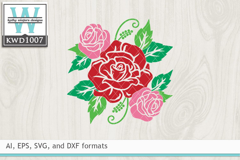 Valentine SVG - Rose Cluster example image 2