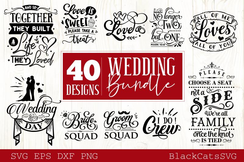 Wedding SVG bundle 40 designs vol 1 example image 3