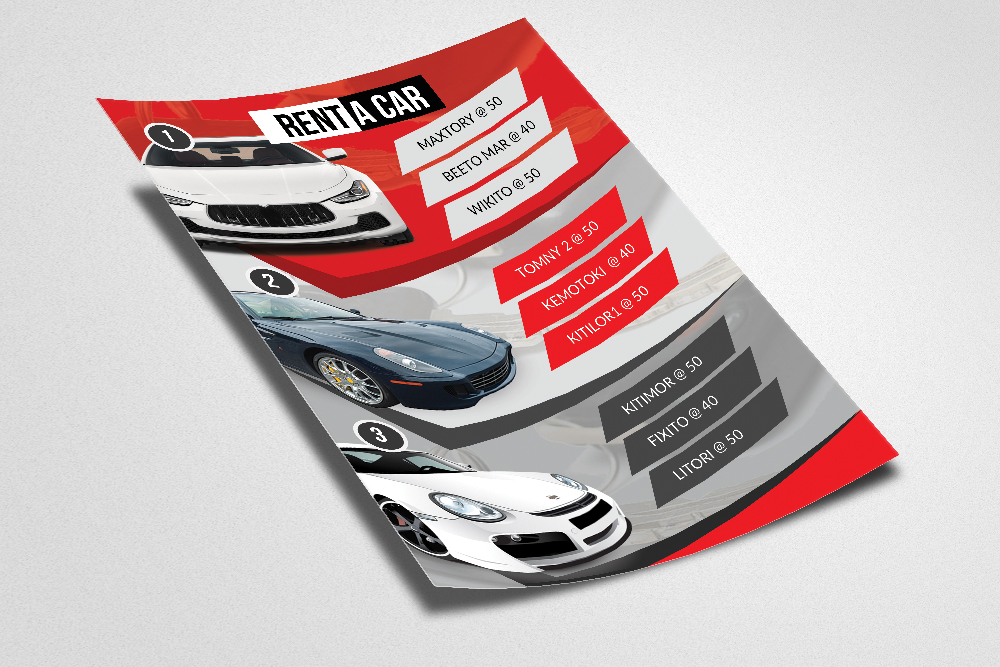 Rent A Car Flyer Template example image 2