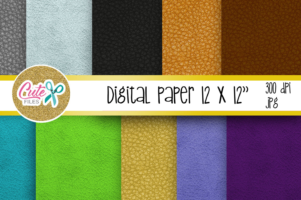 Leather Digital Paper, colorful digital paper example image 2
