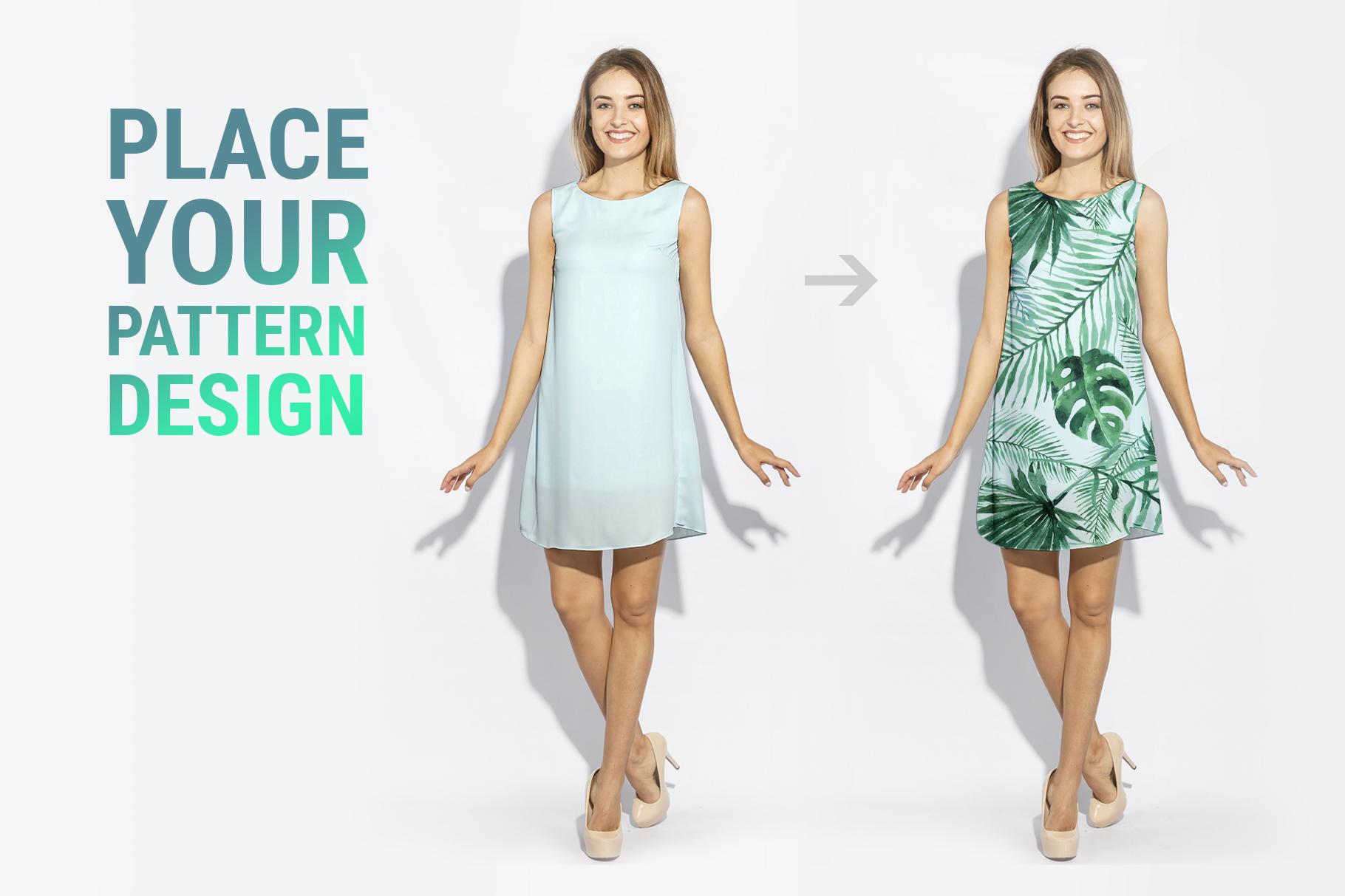 Woman's Dress Mockup Set example image 2