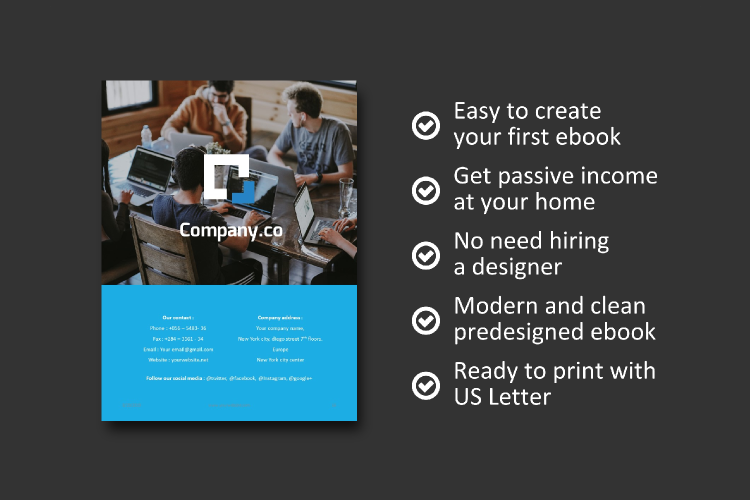 Business Report eBook Powerpoint Template example image 9