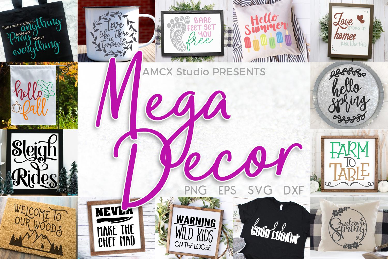 Mega Decor Bundle- A HUGE SVG Bundle for Home Decor example image 1