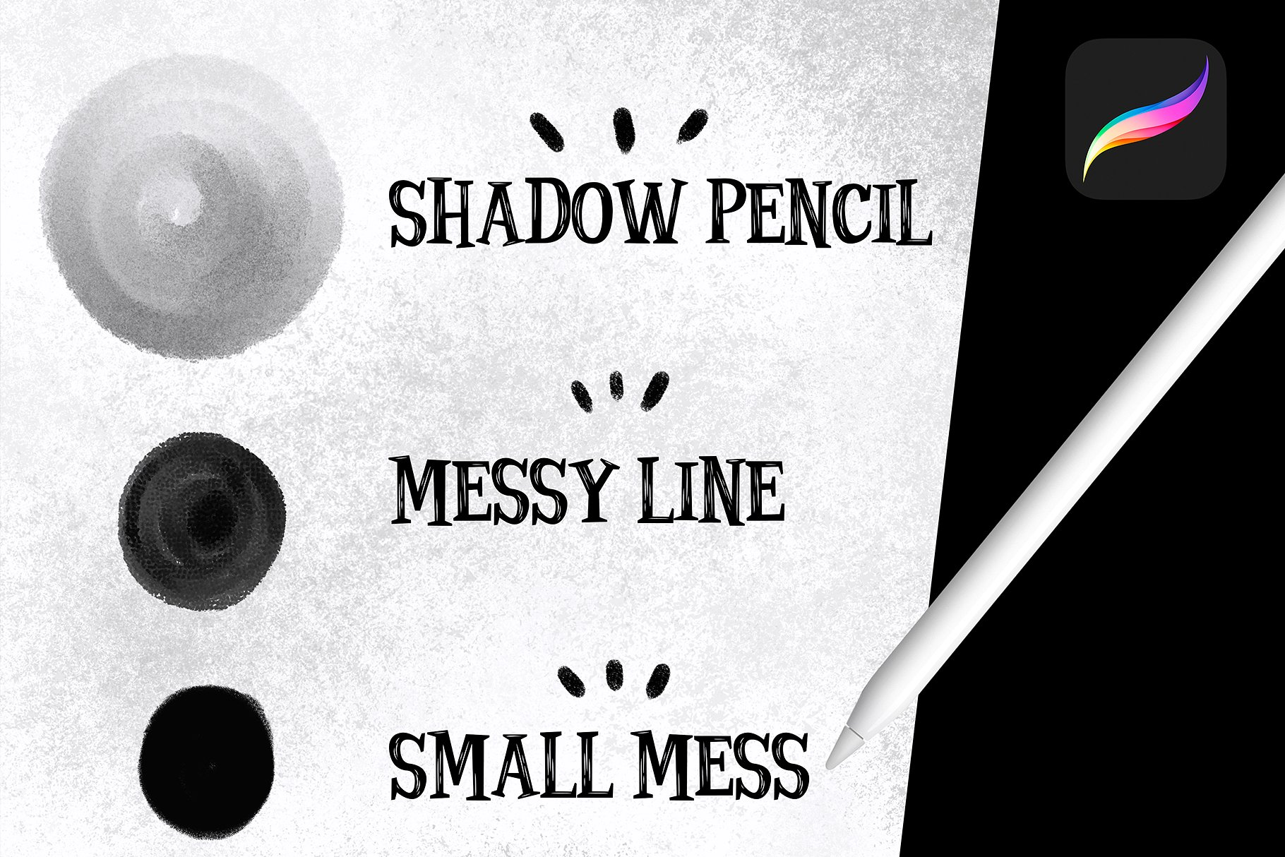 Sketch brushes for PROCREATE example image 2