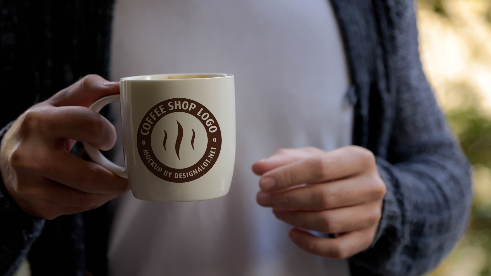 Models with Coffee Mugs Mockups Pack example image 3
