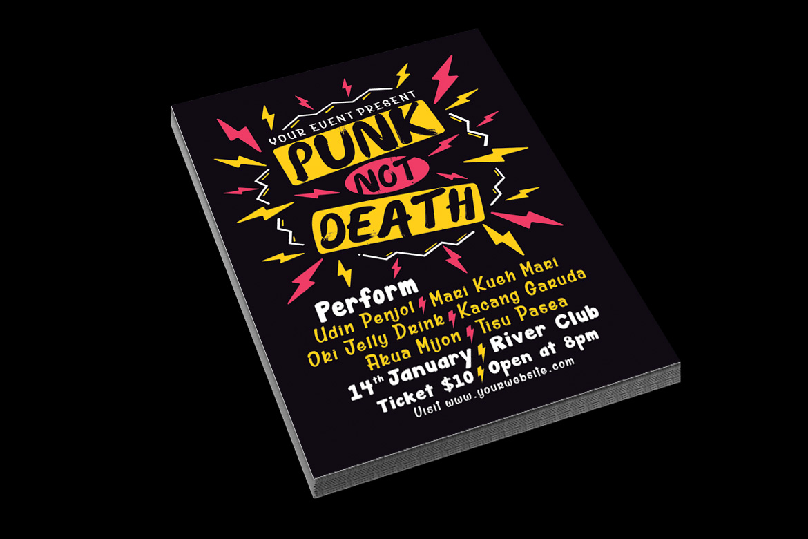 Punk Music Event Flyer example image 4