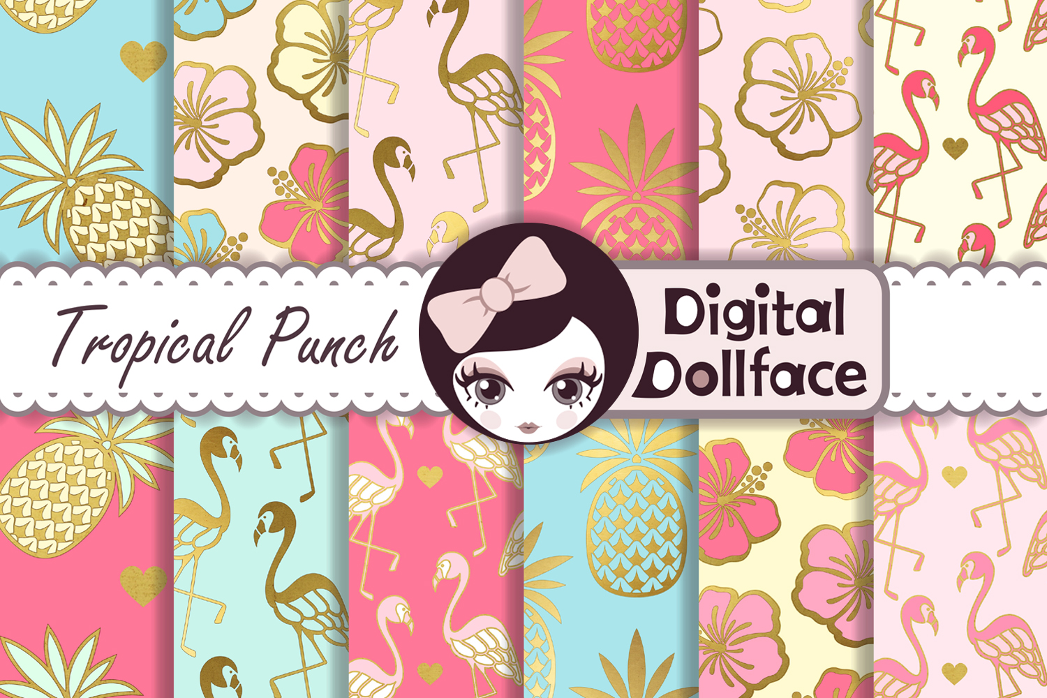 Tropical Punch Digital Paper example image 1