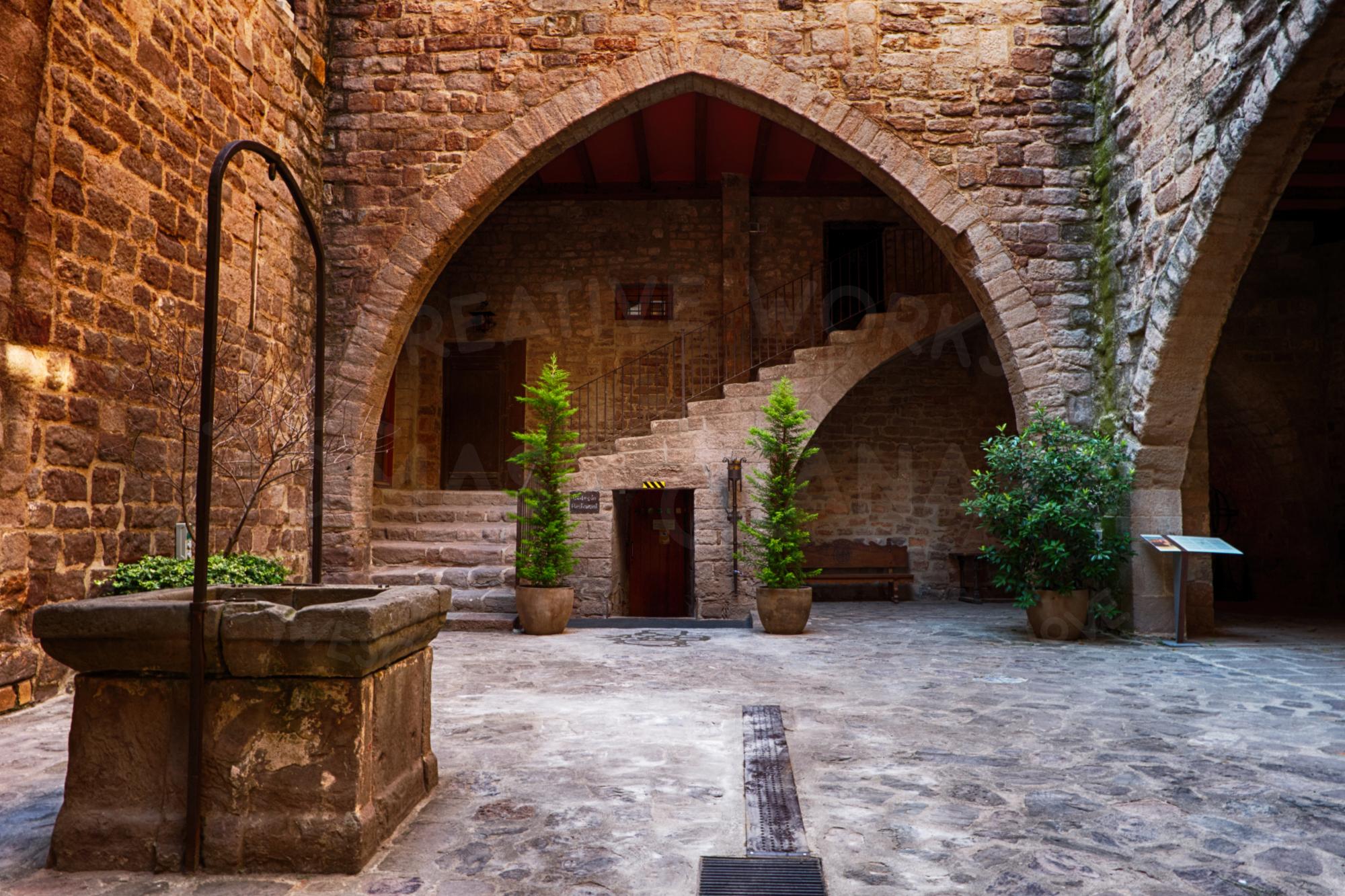 Inner Courtyard Of Cardona Castle 5 - Photo example image 1