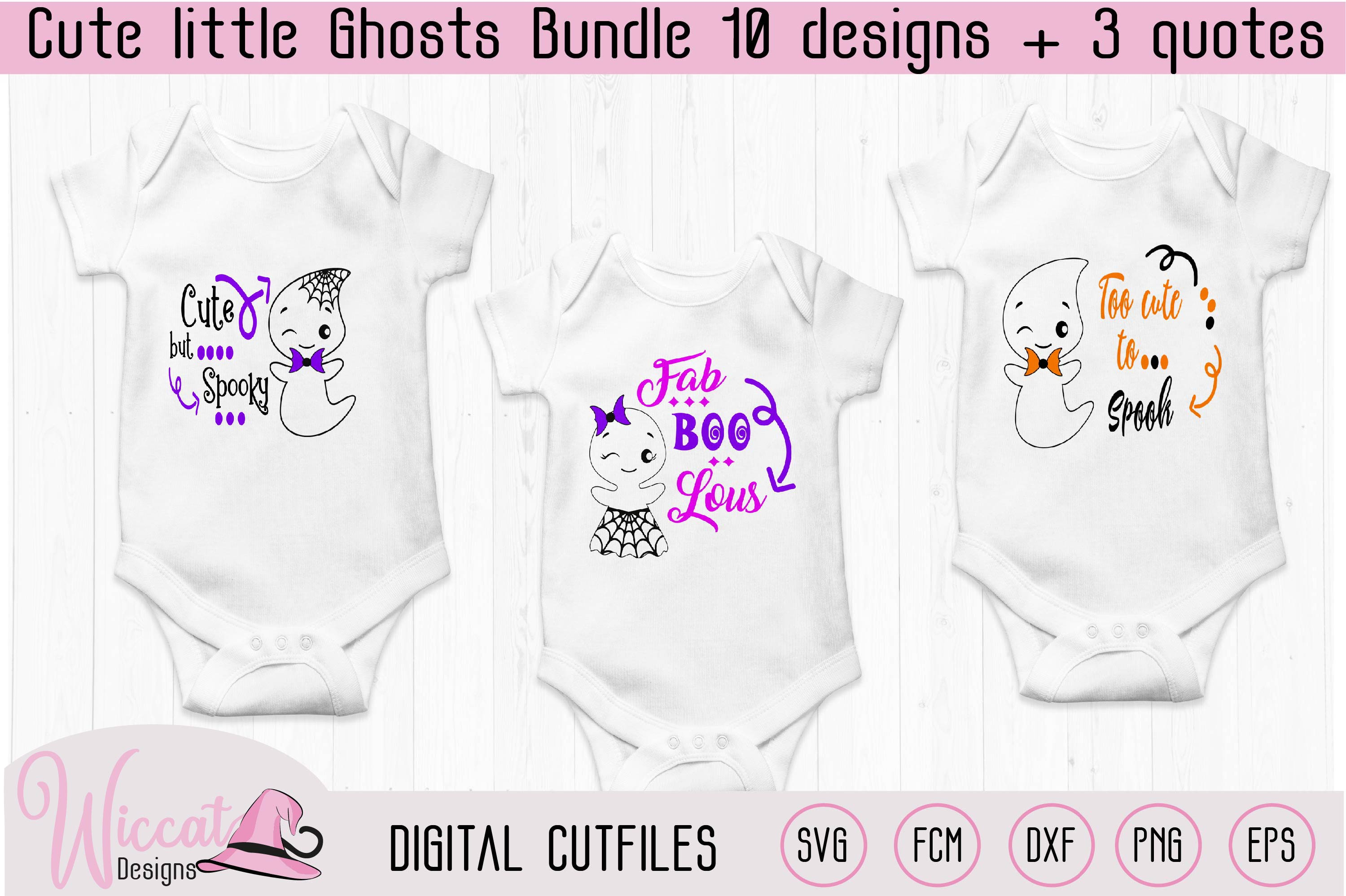 Cute little ghost bundle, scanncut, cricut, vinyl craft example image 5